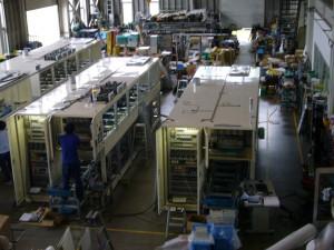 多槽式超音波洗浄装置の組立